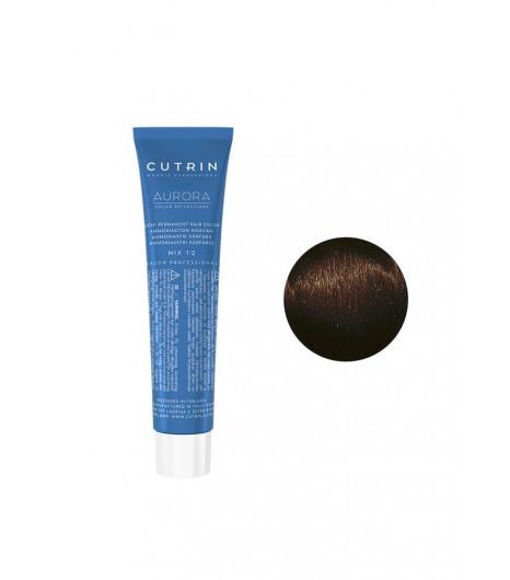 Безаммиачная крем-краска для волос CUTRIN AURORA Demi (Цвет: 3.3  Темно-золотой коричневый) - 1