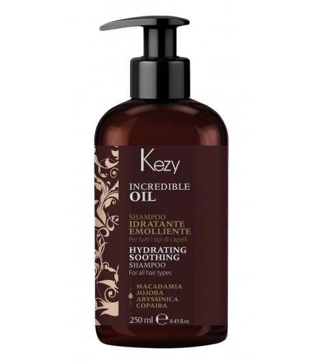 Увлажняющий и разглаживающий шампунь Kezy INCREDIBLE OIL HYDRATING SHAMPOO - 1