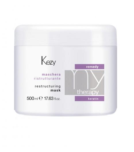 Реструктурирующая маска с кератином Kezy RESTRUCTURING MASK - 1
