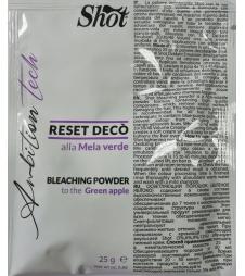 """Осветляющая пудра для волос """"Зеленое яблоко"""" SHOT Ambition Tech Bleaching Powder"""