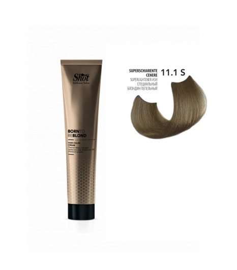 Крем-краска для волос SHOT Born to be BLOND Hair Color Cream (Цвет: 11.1S Специальный блонд пепельный) - 1