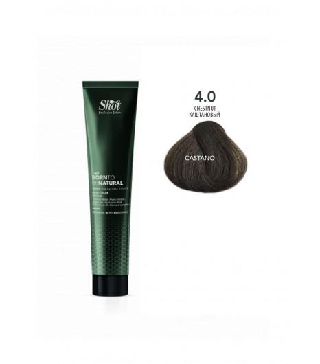 Крем-краска для волос SHOT  Born to be NATURAL Hair Color Cream (Цвет: 4.0 Каштановый) - 1