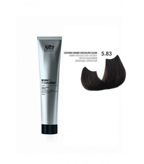 Крем-краска для волос SHOT Born To Be Colored Hair Color Cream (Цвет: 5.83 Светло-каштановый шоколадно-золотистый) - 1