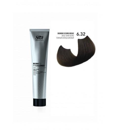 Крем-краска для волос SHOT Born To Be Colored Hair Color Cream (Цвет: 6.32 Тёмный блонд бежевый) - 1