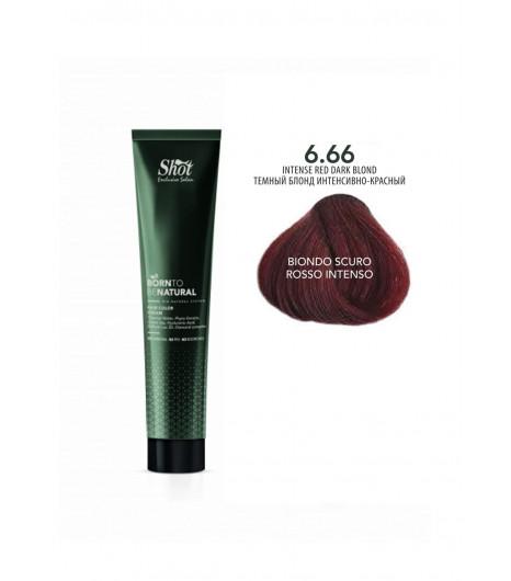 Крем-краска для волос SHOT  Born to be NATURAL Hair Color Cream (Цвет: 6.66 Блонд интенсивно-красный) - 1
