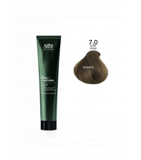 Крем-краска для волос SHOT  Born to be NATURAL Hair Color Cream (Цвет: 7.0 Блонд) - 1