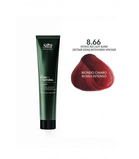 Крем-краска для волос SHOT  Born to be NATURAL Hair Color Cream (Цвет: 8.66 Светлый блонд интенсивно-красный) - 1