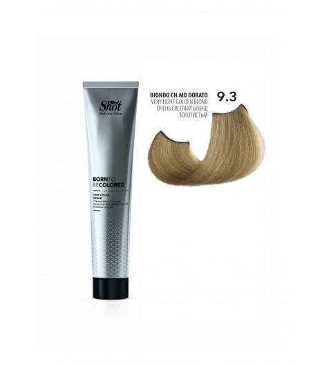 Крем-краска для волос SHOT Born To Be Colored Hair Color Cream (Цвет: 9.3 Очень светлый блонд золотистый) - 1