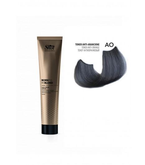 Крем-краска для волос SHOT Born to be BLOND Hair Color Cream (Цвет: Тонер Анти-оранжевый) - 1