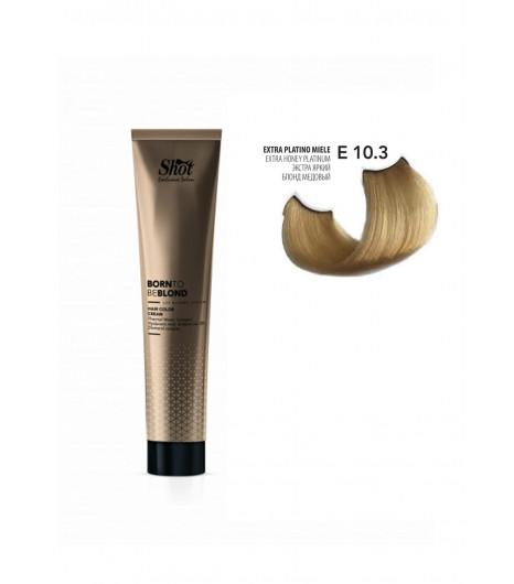 Крем-краска для волос SHOT Born to be BLOND Hair Color Cream (Цвет: 10.3 Экстра яркий блонд медовый) - 1