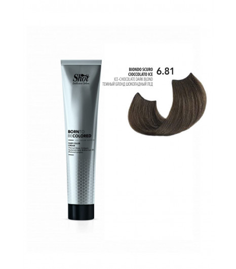Крем-краска для волос SHOT Born To Be Colored Hair Color Cream (Цвет: 6.81 Тёмный блонд шоколадный лёд) - 1