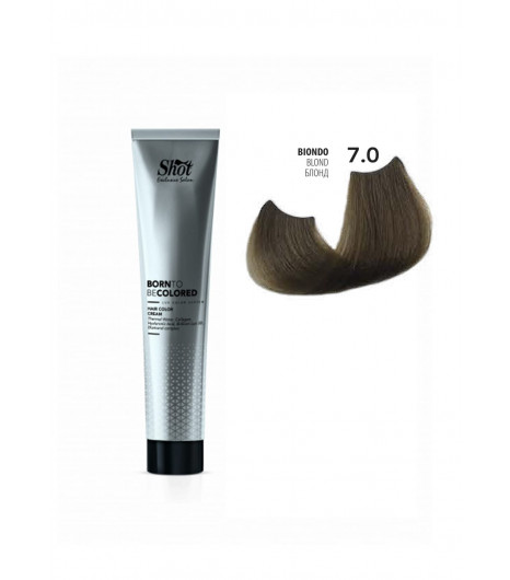 Крем-краска для волос SHOT Born To Be Colored Hair Color Cream (Цвет: 7.0 Блонд) - 1