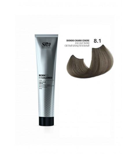 Крем-краска для волос SHOT Born To Be Colored Hair Color Cream (Цвет: 8.1 Светлый блонд пепельный) - 1