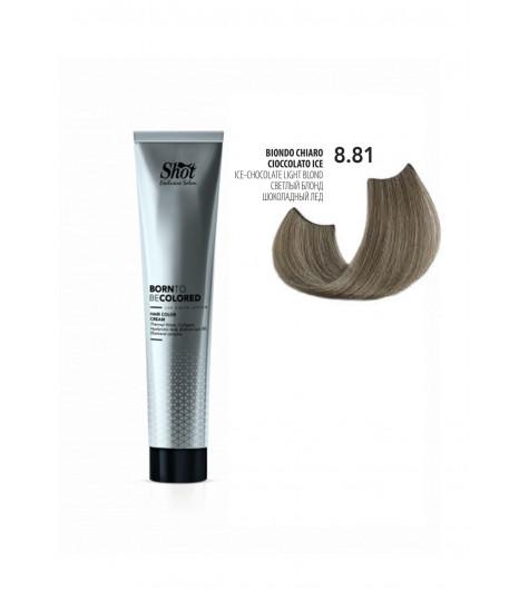 Крем-краска для волос SHOT Born To Be Colored Hair Color Cream (Цвет: 8.81 Светлый блонд шоколадный лёд) - 1