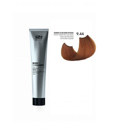 Крем-краска для волос SHOT Born To Be Colored Hair Color Cream (Цвет: 9.44 Очень светлый блонд интенсивно-медный) - 1