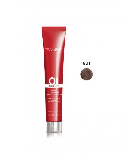 Крем-краска для волос TEAM 155 Color Cream (Цвет: 8.11  Пепельный экстра средний Блонд) - 1