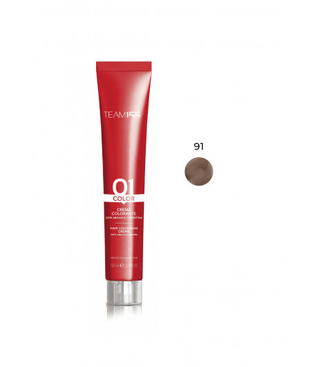 Крем-краска для волос TEAM 155 Color Cream (Цвет: 91 Светлый блонд сандрэ) - 1